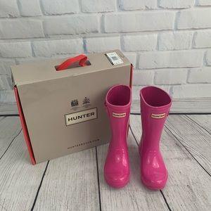 Kids gloss hunter rain boots lipstick pink